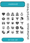 marriage icon set. 25 filled... | Shutterstock .eps vector #1691479453