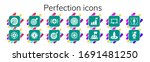 perfection icon set. 14 filled... | Shutterstock .eps vector #1691481250