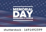 memorial day in united states.... | Shutterstock .eps vector #1691492599