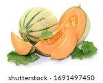Cantaloupe Melon With Fresh...