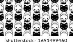 Cat Seamless Pattern Kitten...
