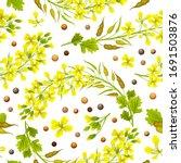 seamless background of flower ...   Shutterstock .eps vector #1691503876