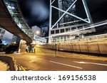 traffic in hong kong at night | Shutterstock . vector #169156538