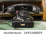 An Old Historic Rotary Phone