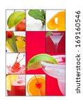 an elegant poster with freshly... | Shutterstock . vector #169160546