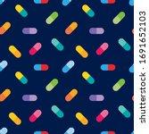 vector colorful pills ... | Shutterstock .eps vector #1691652103