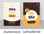 bbq online order doodle banner... | Shutterstock .eps vector #1691658730