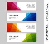 vector abstract banner web... | Shutterstock .eps vector #1691667139