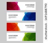 vector abstract banner web... | Shutterstock .eps vector #1691688790