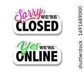 we are closed sign  we are... | Shutterstock .eps vector #1691689000