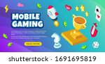 vector mobile gaming banner... | Shutterstock .eps vector #1691695819