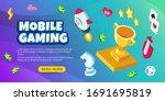 vector mobile gaming banner...   Shutterstock .eps vector #1691695819