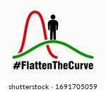 Flatten The Curve Icon. Vector...