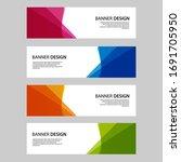 vector abstract banner web... | Shutterstock .eps vector #1691705950
