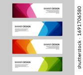 vector abstract banner web... | Shutterstock .eps vector #1691706580