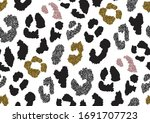 abstract animal skin leopard... | Shutterstock .eps vector #1691707723