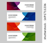 vector abstract banner web... | Shutterstock .eps vector #1691711236