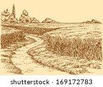 Vector Summer Landscape. A Dirt ...