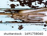 Texture Of The Battered Wood...