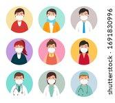 set of avatar people wear... | Shutterstock .eps vector #1691830996