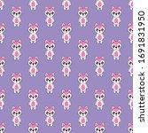 seamless pattern cute fox...   Shutterstock .eps vector #1691831950