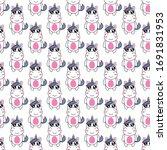 seamless pattern cute unicorn...   Shutterstock .eps vector #1691831953