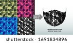 abstract. army camouflage... | Shutterstock .eps vector #1691834896