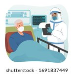 Doctor Wearing Protective Suit...