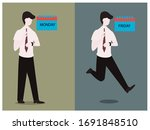 emotion from monday to  friday...   Shutterstock .eps vector #1691848510