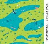 Illustration Of Bird Sanctuary...