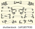 set of vintage ribbons and... | Shutterstock .eps vector #1691857930