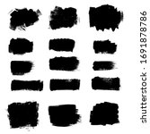 vector paint brush ink brush... | Shutterstock .eps vector #1691878786