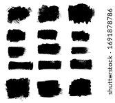 vector paint brush ink brush... | Shutterstock .eps vector #1691878786