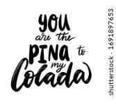 handwritten funny phrase  motto ...   Shutterstock .eps vector #1691897653