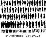 106 people black | Shutterstock .eps vector #16919125
