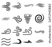 wind sign black thin line...   Shutterstock .eps vector #1691940883