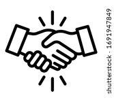 volunteer handshake icon....