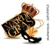 golden mardi gras design... | Shutterstock .eps vector #169195913