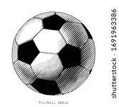 football hand draw vinatge...   Shutterstock .eps vector #1691963386