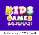 vector bright logo kids games.... | Shutterstock .eps vector #1691972623