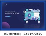 working from home concept... | Shutterstock . vector #1691973610