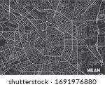 minimalistic milan city map... | Shutterstock .eps vector #1691976880