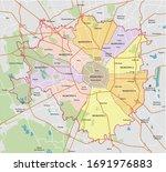 high detail milan boroughs... | Shutterstock .eps vector #1691976883