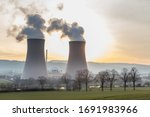 Cooling Towers Of A Nuclear...