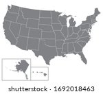 blank map usa.  united states... | Shutterstock .eps vector #1692018463