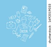 medicine icon set for your... | Shutterstock .eps vector #1692019033