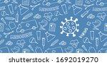 medical background with virus... | Shutterstock .eps vector #1692019270