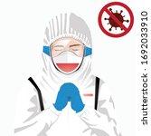 covid 19 or coronavirus concept.... | Shutterstock .eps vector #1692033910