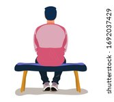man in pink t shirt and dark... | Shutterstock .eps vector #1692037429