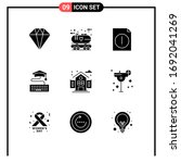 9 universal solid glyph signs...